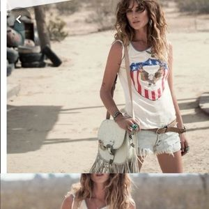 SPELL GYPSY captain American tee off white size s